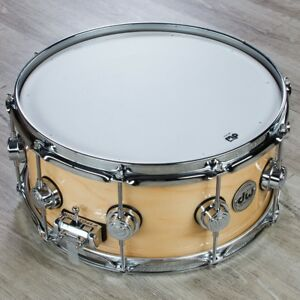 DW-Drum-Workshop-Collectors-Series-Snare-Custom-Lacquer-Maple-Spruce-Shell-6x14