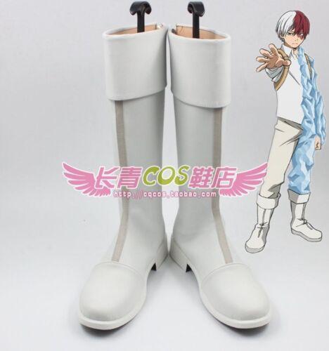 Anime My Hero Academia Shouto Todoroki cosplay costume shoes Boots Custom Made