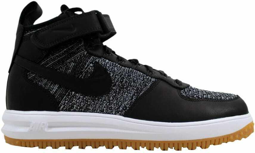 Nike Lunar Force 1 Workavvio nero  bianco  -lupo grigio 855984 -001 Dimensione Mens 9  offerta speciale