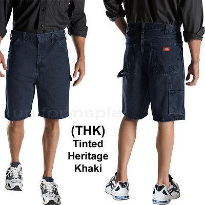 "Dickies Shorts Mens 9.5"" Relaxed Fit Carpenter Short Denim Cotton 3993 Indigo"