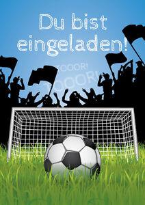 einladungskarten fussball: feste & besondere anlässe | ebay, Einladungskarten
