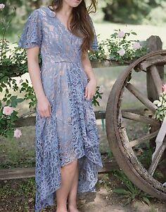 174de382da10 Image is loading NWT-Anthropologie-Genevieve-Lace-Dress -by-Moulinette-Soeurs-