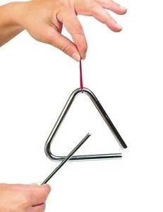 Triangel für Kinder Musikinstrumen<wbr/>t Tri-Angel Musik Klang Instrument NEU
