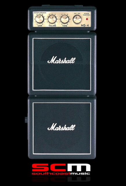 Marshall MS4 Double Stack Amp Micro Guitar Amplifier Portable Battery Operation