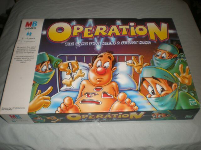 Vintage Operation 1999 Edition Board Game - MB Games complete - tested working