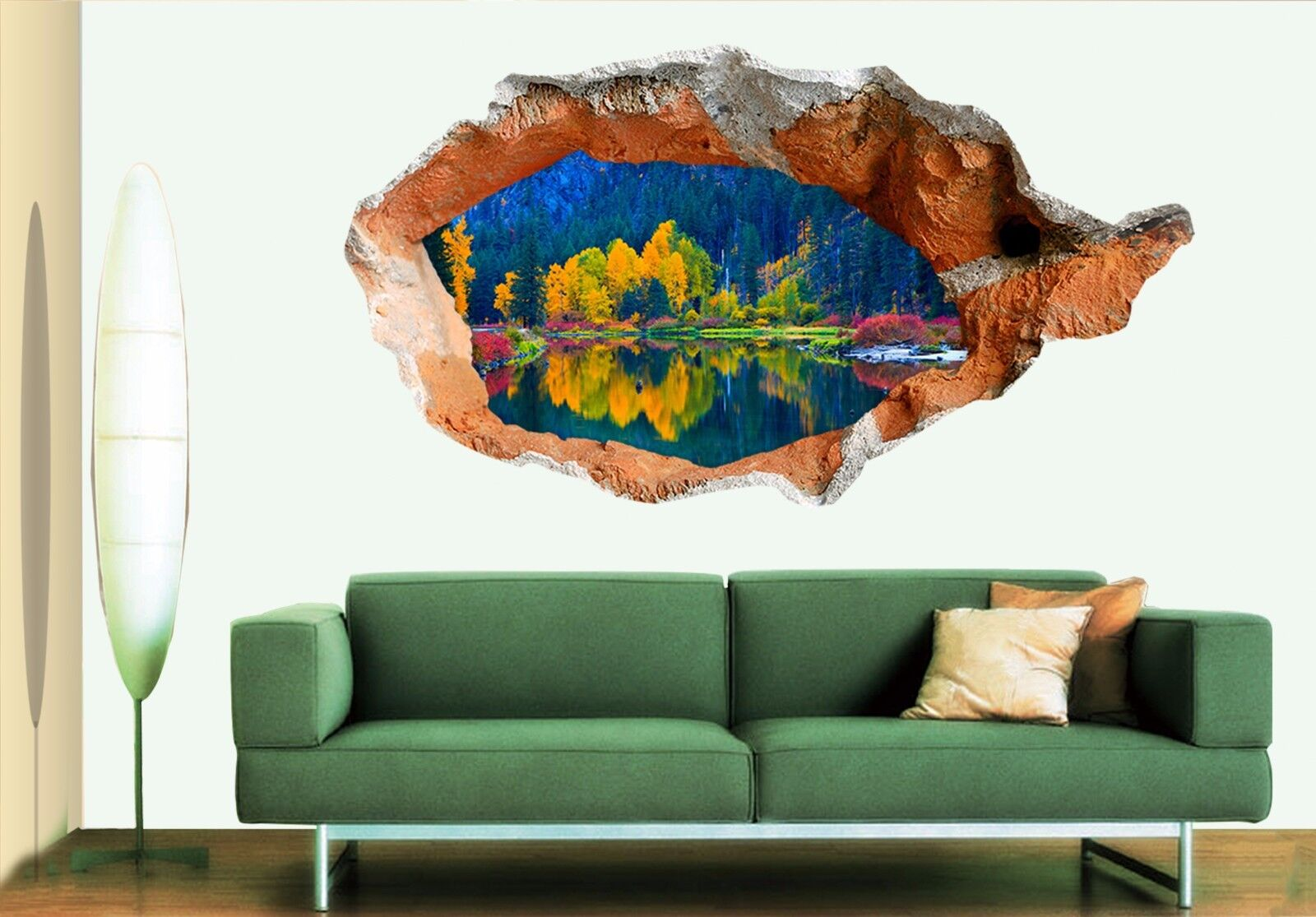 3D Alberi colorati 158 Parete Murales Adesivi Decal Sfondamento AJ WALLPAPER IT