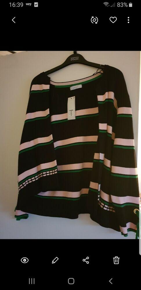 Femme Femmes Neuf M&s Neuf Per Una Magnifique Cardigan Taille 22 Bnwt Neuf