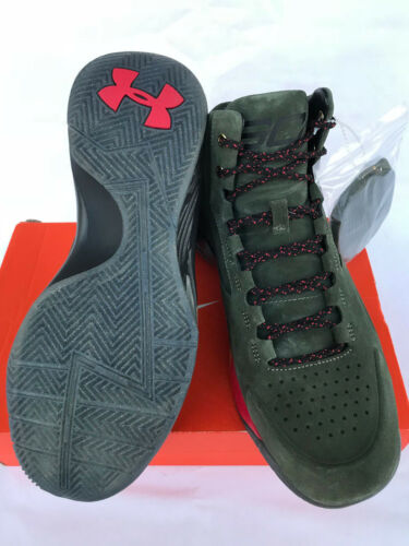 Under Armour UA Curry 1 Lux Mid Suede 1296617-330 Basketball Shoes Men/'s 8.5 new
