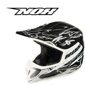 Motocross helmet NOX N738 Graphic Black enduro scooter quad dirt