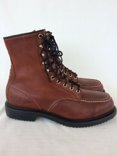 7a7d7dc8e94 Mens Vtg Red Wing USA Cognac Leather Steel Toe 4429 8