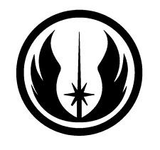 Star Wars Jedi Logo Decal Vinyl Truck Window Car Sticker  Black