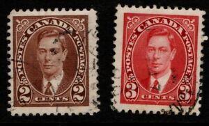 Canada 1937 King George VI SG 358-9 Used