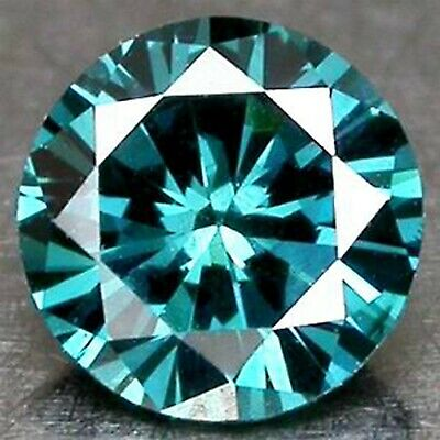 Natural Blue Loose Diamond 0.10CT Brilliant Round Shape With Free Certificate