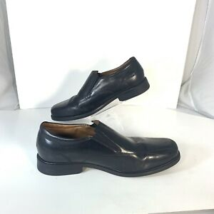 clarks collection black leather loafers comfort casual