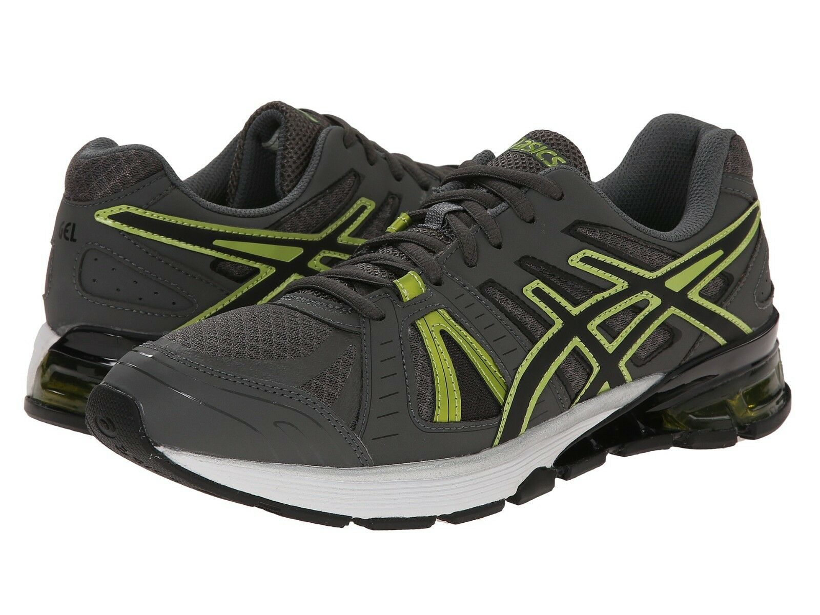 hombres ASICS GEL-Defiant 2 Running zapatos, S527N 9790 Tamaños 8-9 Carbón Negro Lim