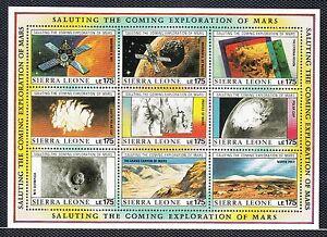 VS30 SIERRA LEONE #1168 SOUVENIR SHEET MINT NH $25.00 COMING MARS EXPLORATION