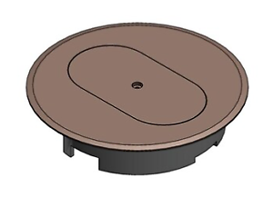 Round Plastic Electrical Box Cover Floor Duplex Outlet