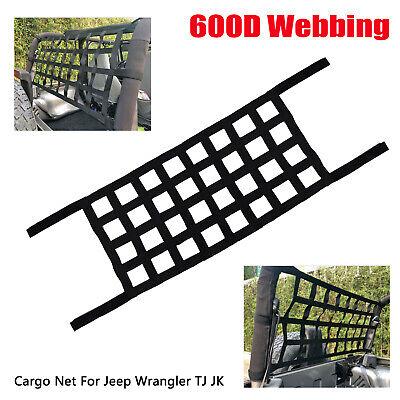 Multifunction Roof Hammock Net Cargo Storage Grid Fit For Jeep Wrangler TJ JK JL