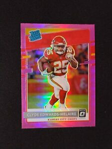 2020 Panini Donruss Optic Rated Rookies Pink Prizm Clyde Edwards-Helaire Rookie
