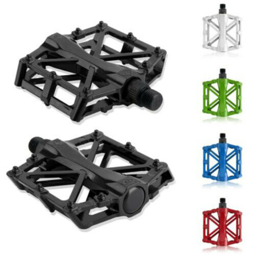 2pcs Mountain Bike Pedals Flat Platform Aluminum Alloy Sealed Bearing Pedals