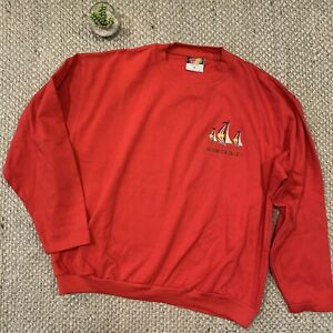 VTG-Davidson-s-Of-Bermuda-Blues-Embroidered-Red-Sailing-Sweatshirt-Adult-XL