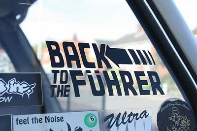 Back to the Fuhrer Sticker for Volkswagen Beetle Bug VW Camper Golf Bus Fastback