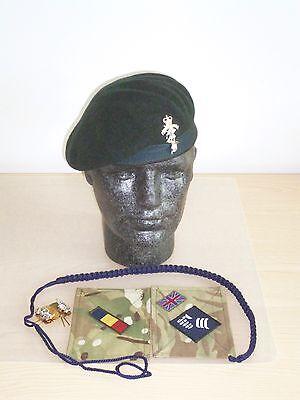 REME / Queen's Royal Hussars Beret, Collar Badges, MTP Brassards & Lanyard. 54cm