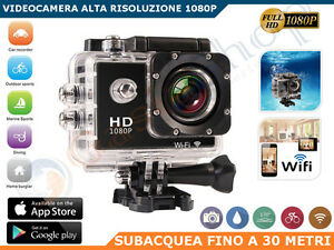 Action Camera Subacquea : Pro cam sport wifi p mp full hd action camera mp
