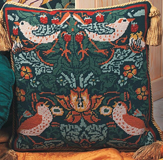 Twilleys - Tapestry Cushion Front Kit - Strawberry Thief -  1244/0001