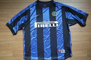 Inter-Milan-Jersey-Shirt-Men-039-s-L-100-Original-1999-2000-Home