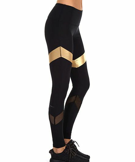 Gottex X S Legging Yoga Crisscross Stripe Workout M L Nwt Sport Gym Exercise NWT