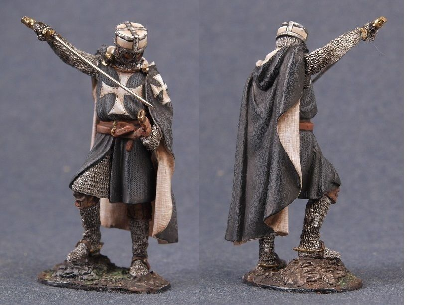 Tin toy soldiers ELITE painted 54 mm Knight of the Order of the Knights Templar,
