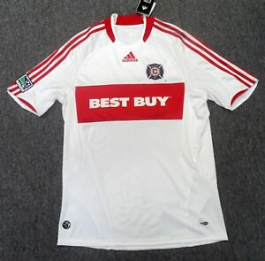 new product dbdf8 0f430 Details about Authentic Adidas Chicago Fire Away Jersey Small
