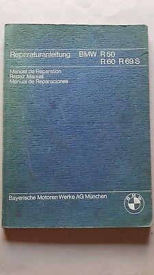Bmw R 50 - R 60 - R 69 S 1969 Manuale Officina Originale Workshop Manual