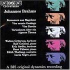 Johannes Brahms - : Romanzen aus Magelone; Vier ernste Gesänge; Vier Duette; Variationen über ein eigen (1995)