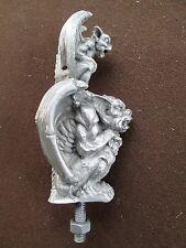 gargoyles, evil statues, notre dame, car hood ornament mascot