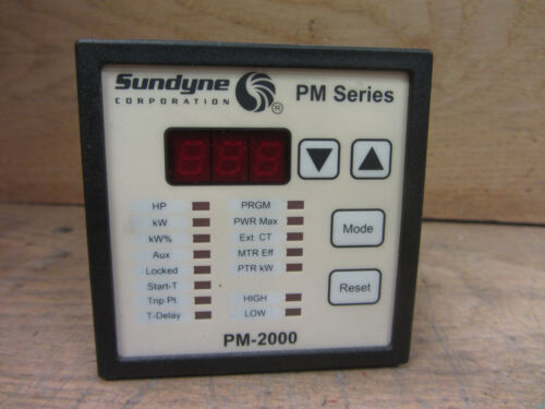 Sundyne PM-2000 PM Series Power Monitor Used CSQ