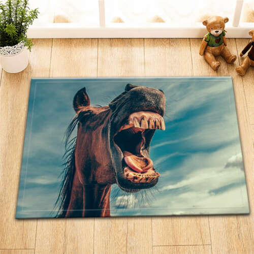 Horse Teeth Waterproof Bathroom Polyester Shower Curtain Liner Water Resistant