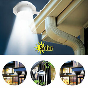 3leds solar au enleuchte wandleuchte dachrinnen licht f r garten zaun geschenk ebay. Black Bedroom Furniture Sets. Home Design Ideas