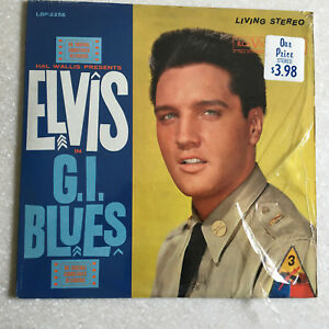 Elvis-GI-Blues-LSP-2256-RCA-VICTOR-Living-Stereo-Lp-Vinyl-Disc-Record-ROCK-MOVIE