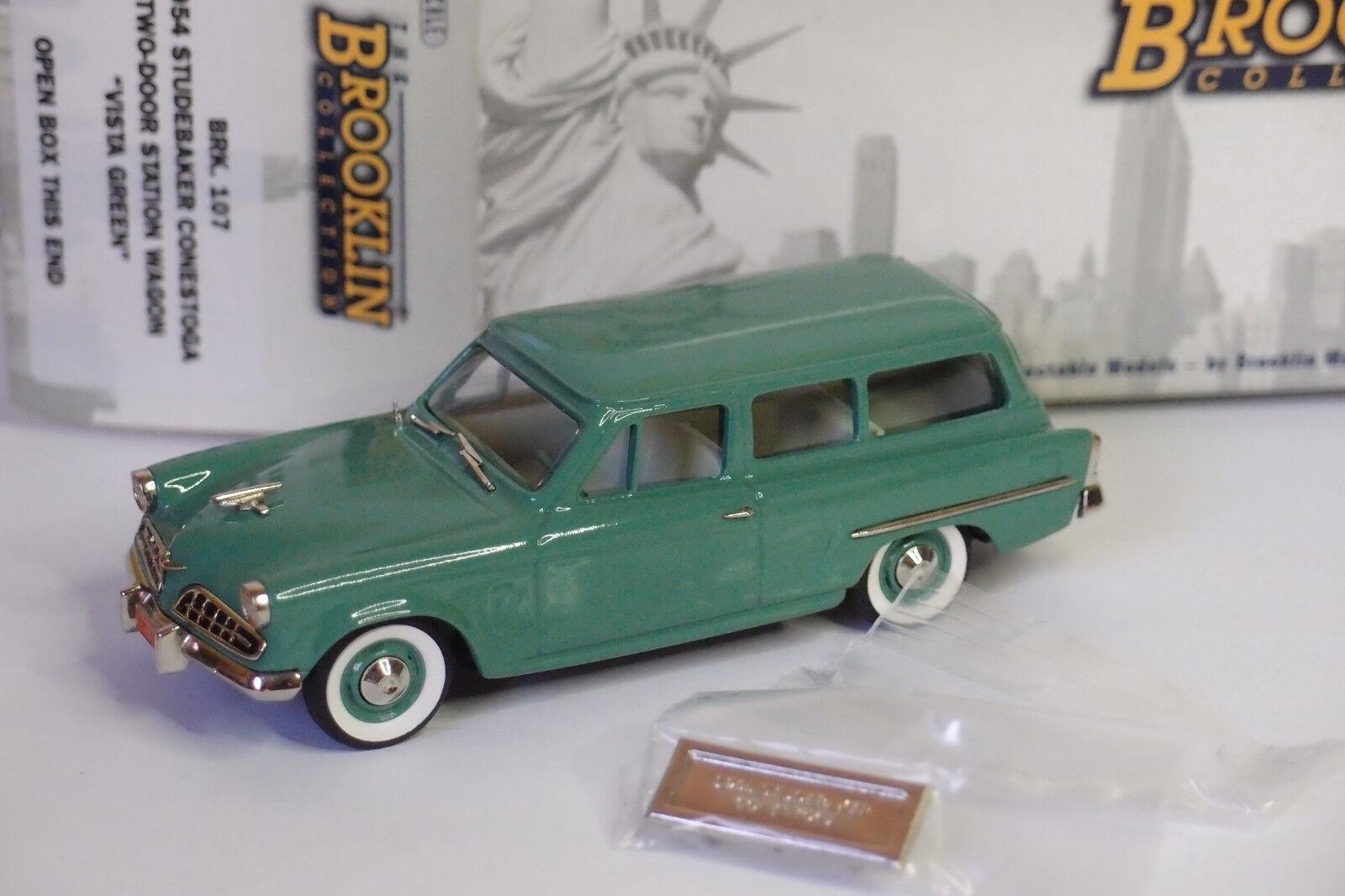 Brooklin brk 107 1954 studebaker Conestoga two-door station  wagon vert 1 43  parfait