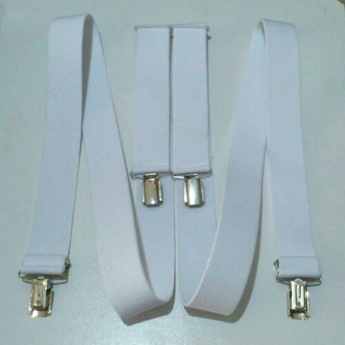 Suspenders Extra Strong Clips 35mm H-Form Elastic Trousers Strap Ladies Men/'s