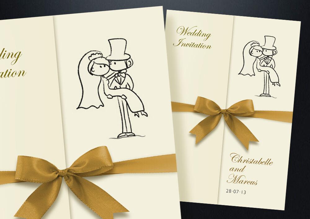 75 Personalised Gatefold Wedding Day and Evening Invitation