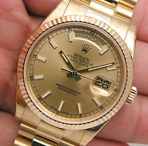 Rolex-Day-Date-President-118238-Champagne-Index-Dial-36mm-18k-Yellow-Gold-Watch