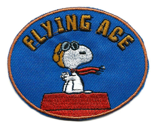 """3X2.5/"""" Snoopy pilot Flying Ace Embroidered IRON ON Patch Sew On Patch dogfight"""