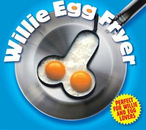 Willy Egg Fryer penis shape Rude Novelty Kitchen Utensil stag Hen Secret Santa