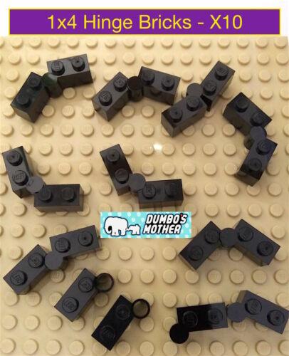 LEGO 1x4 Hinge Brick with Swivel Base Black NEW X10