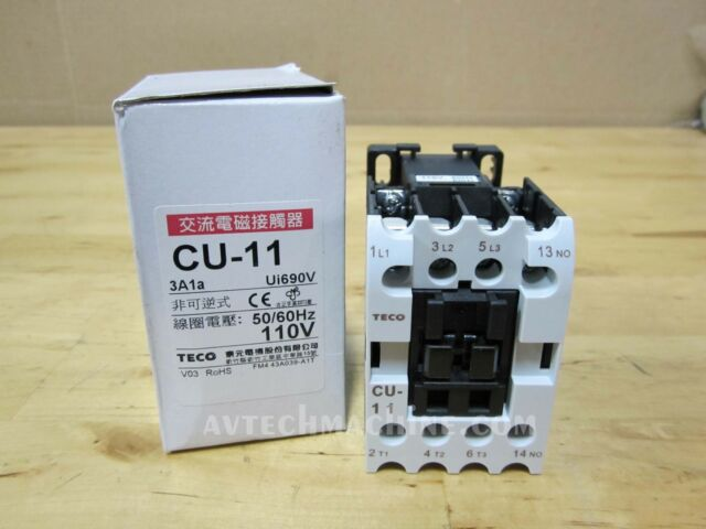 N//O 30A Replaces CN-16 110V Coil 3A1a 3 Phase TECO CU-16 Magnetic Contactor