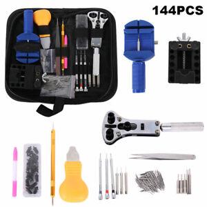 144tlg-Uhrenwerkzeug-Set-Uhrmacherwerkzeug-Uhr-Werkzeug-Gehaeuseoeffner-Reparatur