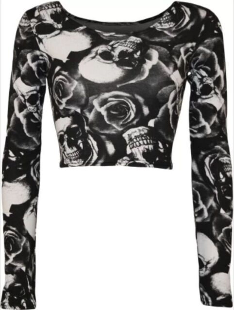 NEW LADIES COMIC/ZEBRA/CAMOU/SKULL PRINT GIRLS CROP TOP SHIRTS VEST BLOUSE